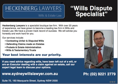 Sydney Probate Lawyer